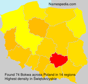 Surname Bokwa in Poland