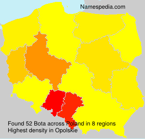 Surname Bota in Poland