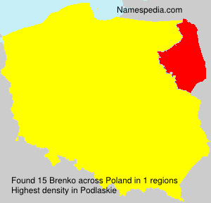 Surname Brenko in Poland