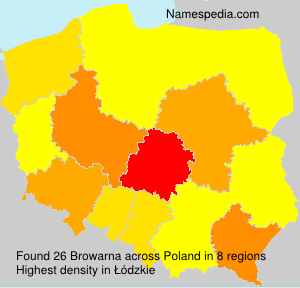 Surname Browarna in Poland