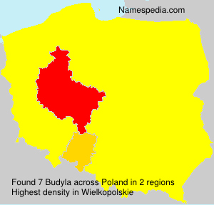 Surname Budyla in Poland