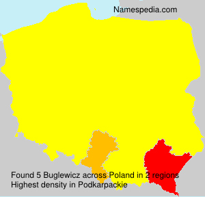 Surname Buglewicz in Poland