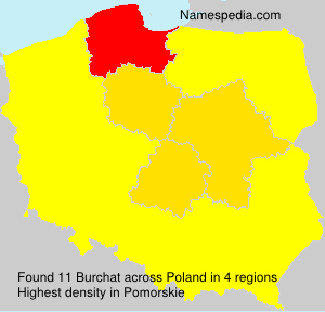 Surname Burchat in Poland