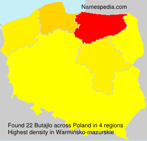 Surname Butajlo in Poland