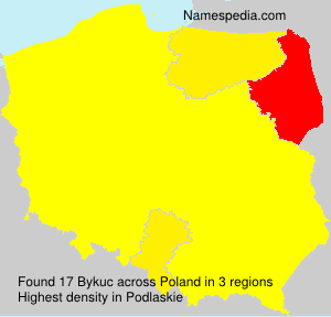Surname Bykuc in Poland