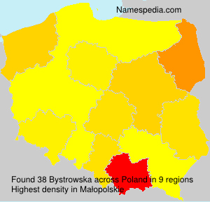 Surname Bystrowska in Poland
