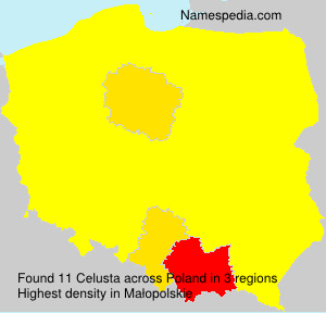 Surname Celusta in Poland