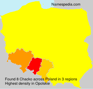 Surname Chacko in Poland
