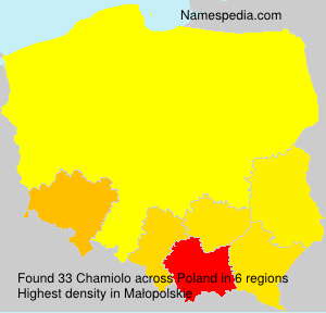 Surname Chamiolo in Poland