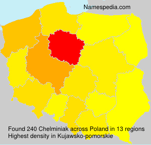 Surname Chelminiak in Poland