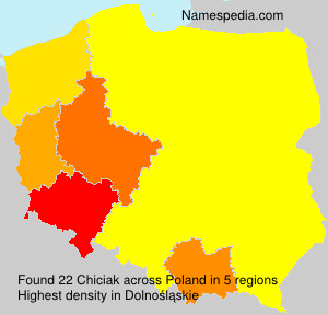 Surname Chiciak in Poland