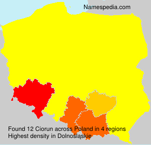 Surname Ciorun in Poland