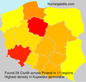 Surname Ciurlik in Poland