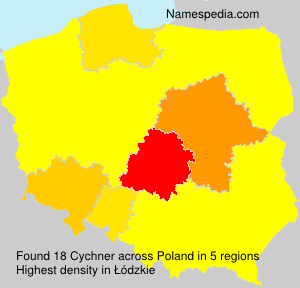 Surname Cychner in Poland