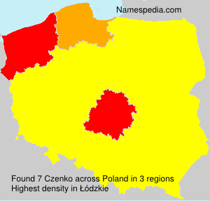 Surname Czenko in Poland