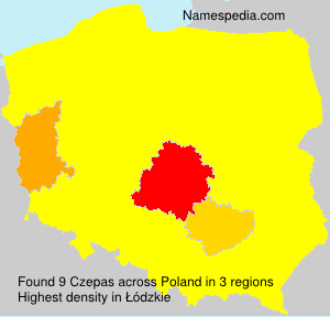 Surname Czepas in Poland