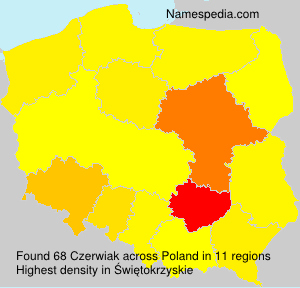 Surname Czerwiak in Poland