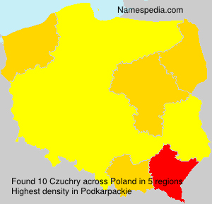 Surname Czuchry in Poland