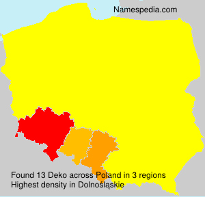 Surname Deko in Poland