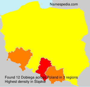 Surname Dobiega in Poland