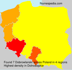 Surname Dobrowlanski in Poland