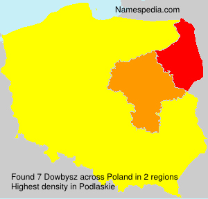 Surname Dowbysz in Poland
