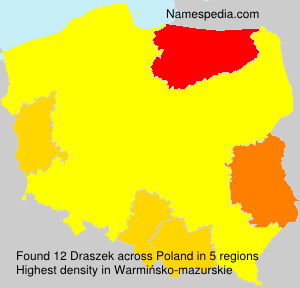 Surname Draszek in Poland