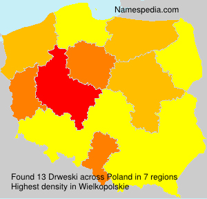 Surname Drweski in Poland
