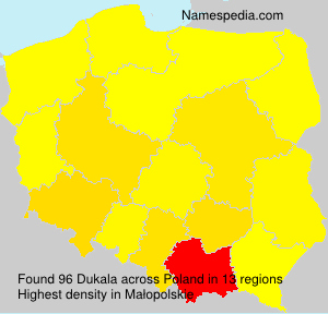 Surname Dukala in Poland