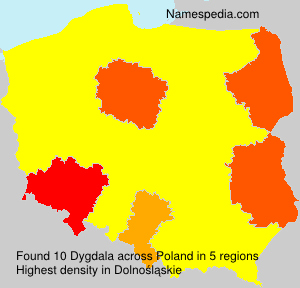 Surname Dygdala in Poland