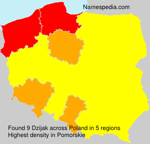 Surname Dzijak in Poland