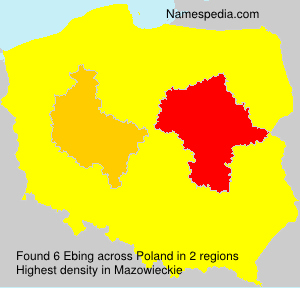 Surname Ebing in Poland