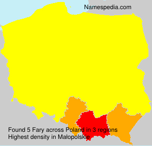 Surname Fary in Poland