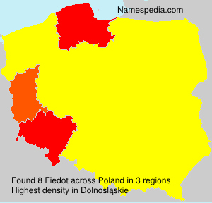 Surname Fiedot in Poland