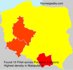 Surname Firlet in Poland