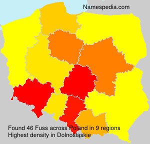 Surname Fuss in Poland