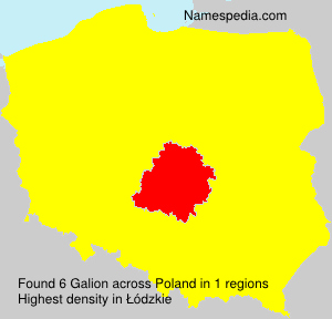 Surname Galion in Poland