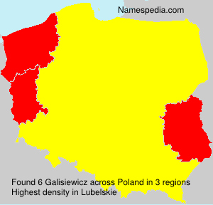 Surname Galisiewicz in Poland