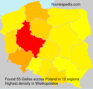 Surname Gallas in Poland