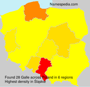 Surname Galle in Poland