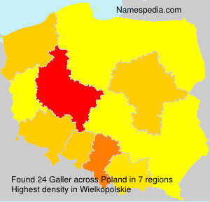 Surname Galler in Poland