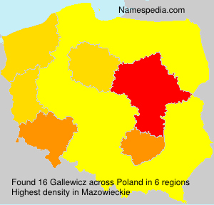 Surname Gallewicz in Poland