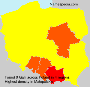 Surname Galli in Poland
