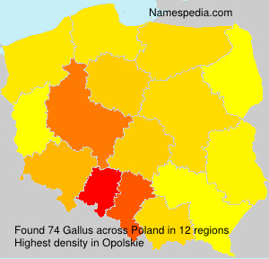 Surname Gallus in Poland