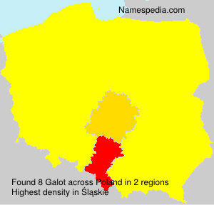 Surname Galot in Poland