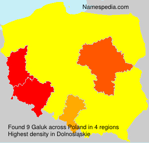 Surname Galuk in Poland