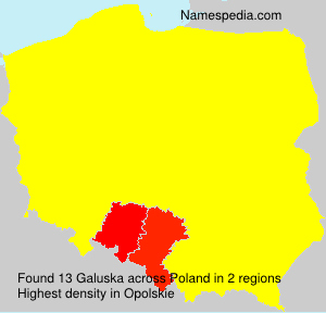 Surname Galuska in Poland