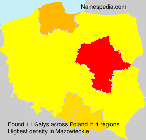 Surname Galys in Poland