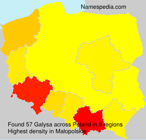 Surname Galysa in Poland