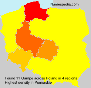 Surname Gampe in Poland